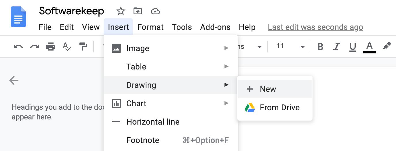 add table border in google docs using draw