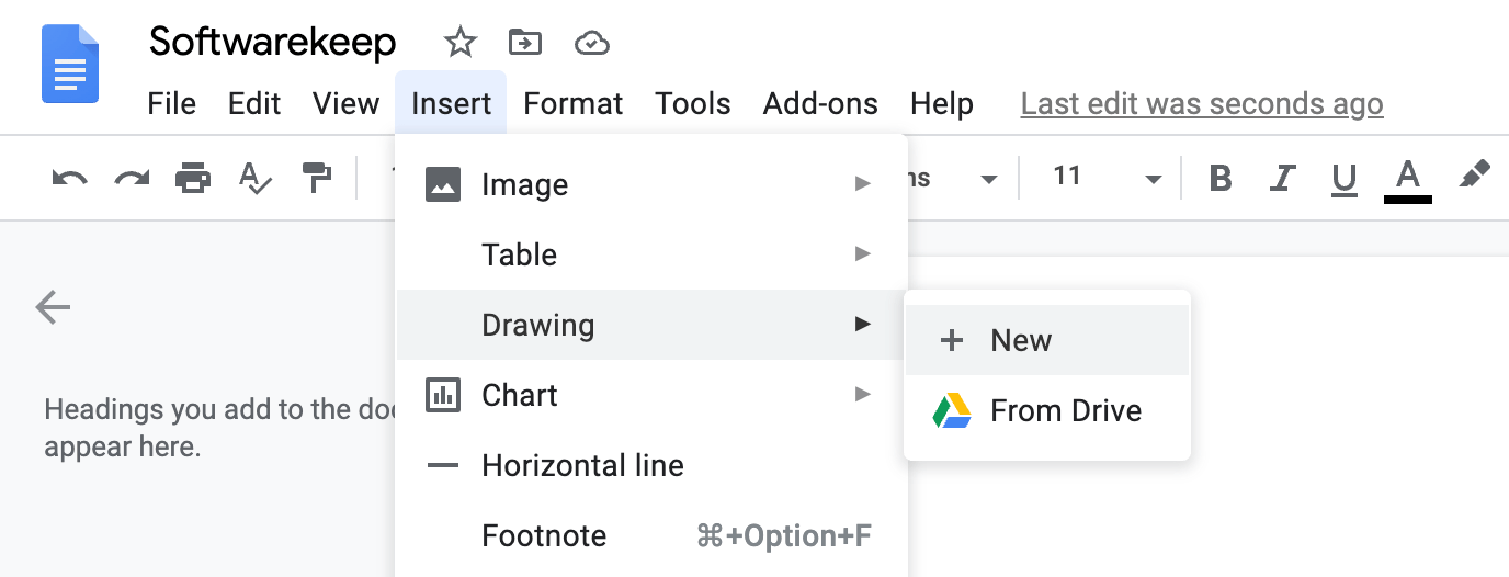 insert border in google docs using image