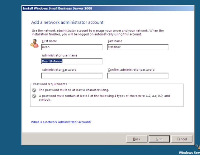 How to add network administrator account