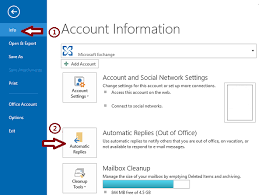 How to set up automatic replies in Outlook