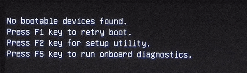 No Boot Device Found on Windows 10