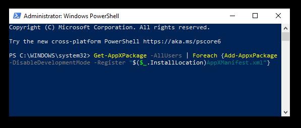 hoe to register windows 10 apps via powershell