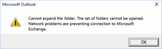 You cannot expand the folder error