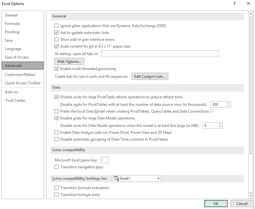 How to disable DDE in excel