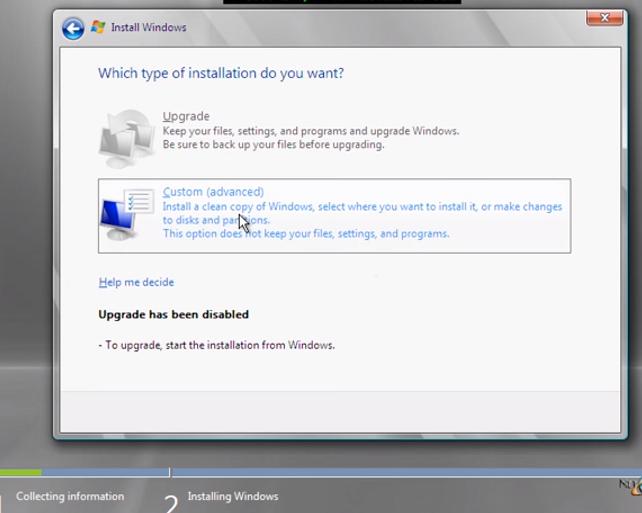 Custom install Small Business Server