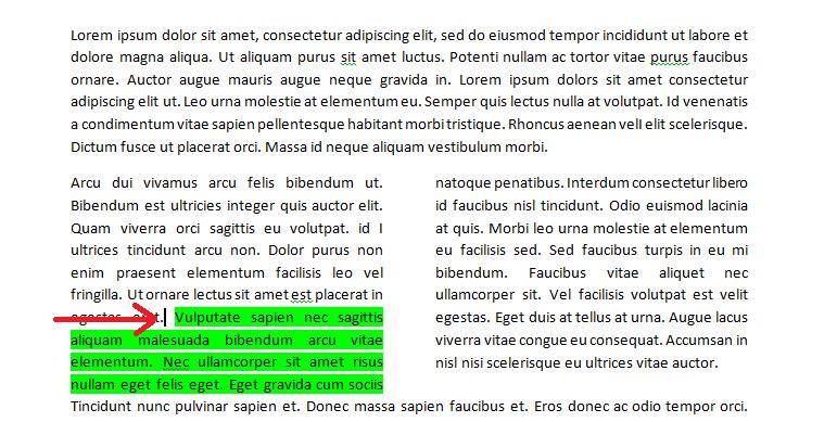 how to make column breaks in word