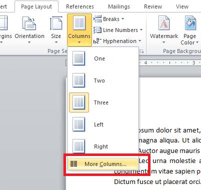 select more columns