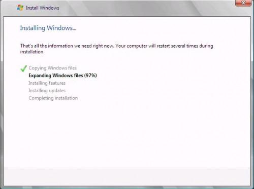 WIndows Small Business Server 2011 installation wizard