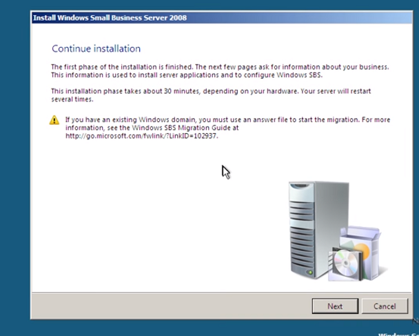 Windows SBS 2008 operating system