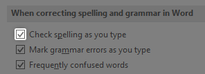 How to check for spelling mistakes in word