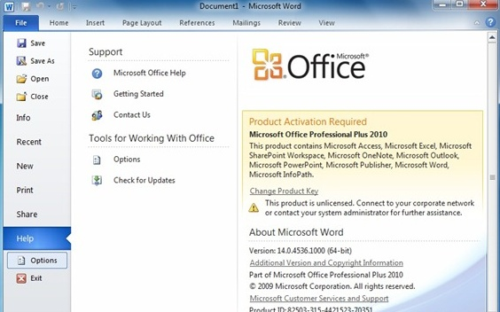 Language options in word