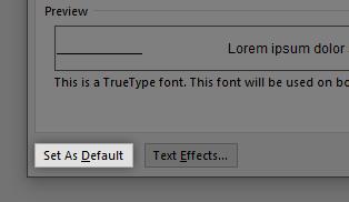 How to set font default