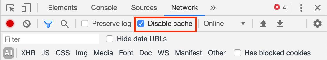 disable cache