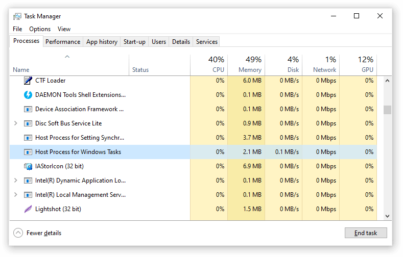 how to fix host process for windows  tasks has stopped working