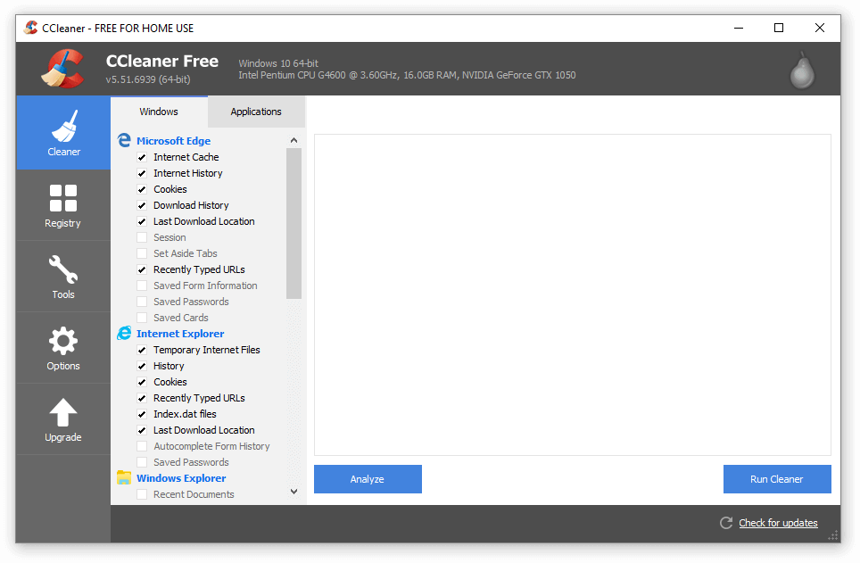 use clean system registry