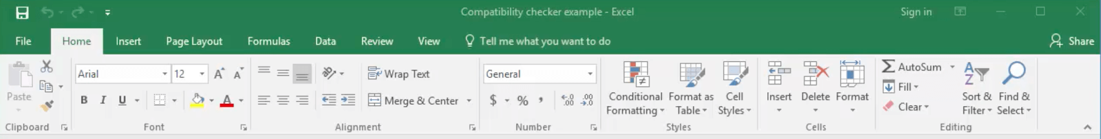 excel compatibility mode