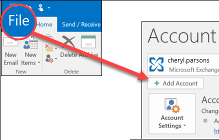 How to add an email account to outlook