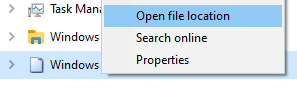 file location