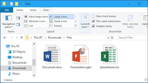Basics of Windows 10 File Explorer Interface