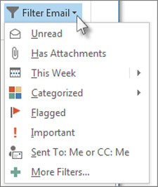 How to filter and search for emails