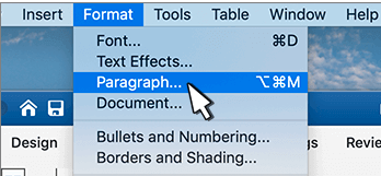 create hanging indent on microsoft word mac