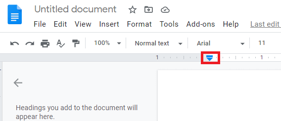 create hanging indent on google docs