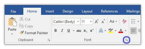 how to change the default document font in office