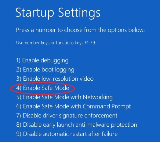 how to enable safe mode 1
