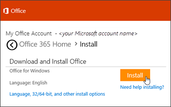 How to Install Office on a Windows PC Using My Online Microsoft Account