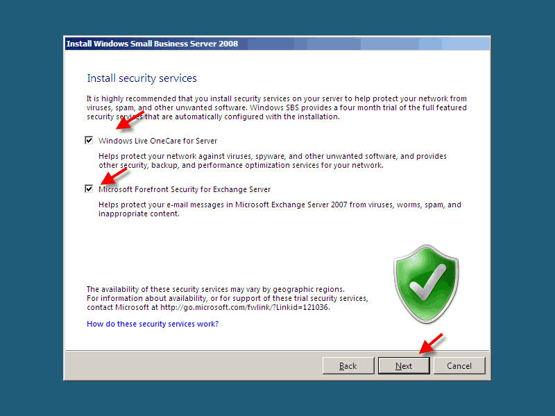 Installing Small Business Server 2008