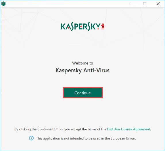 Kasperky installation