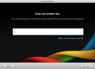 How to activate Office 2011 for Mac using Product key