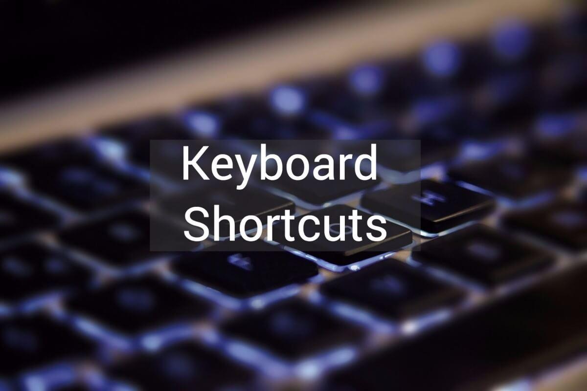 File explorer keyboard shortcuts