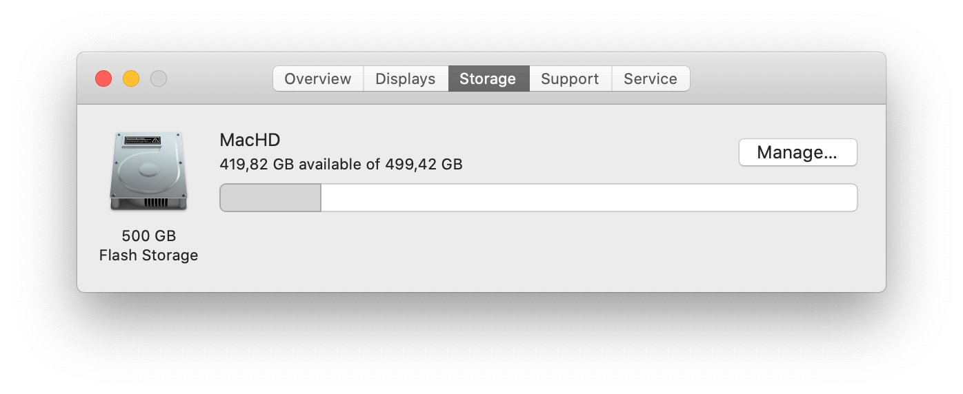 find large files in mac manually