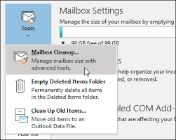 How to clean your outlook inbox