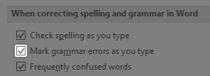 Mark grammar mistakes as you type