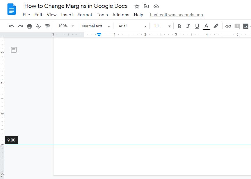 how to decrease margins in google docs