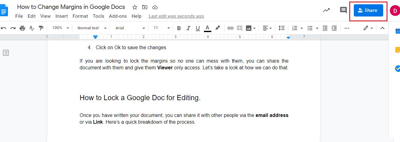 share google docs