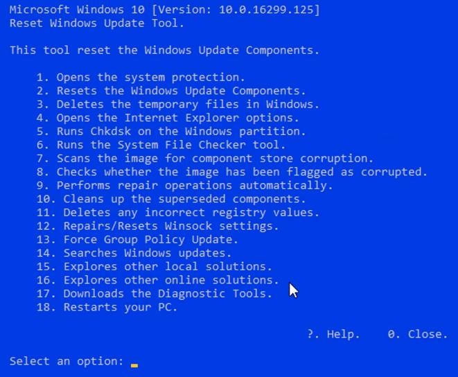 Windows update tool