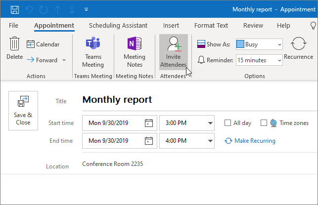 How to manage  your calendar and contacts in outlook