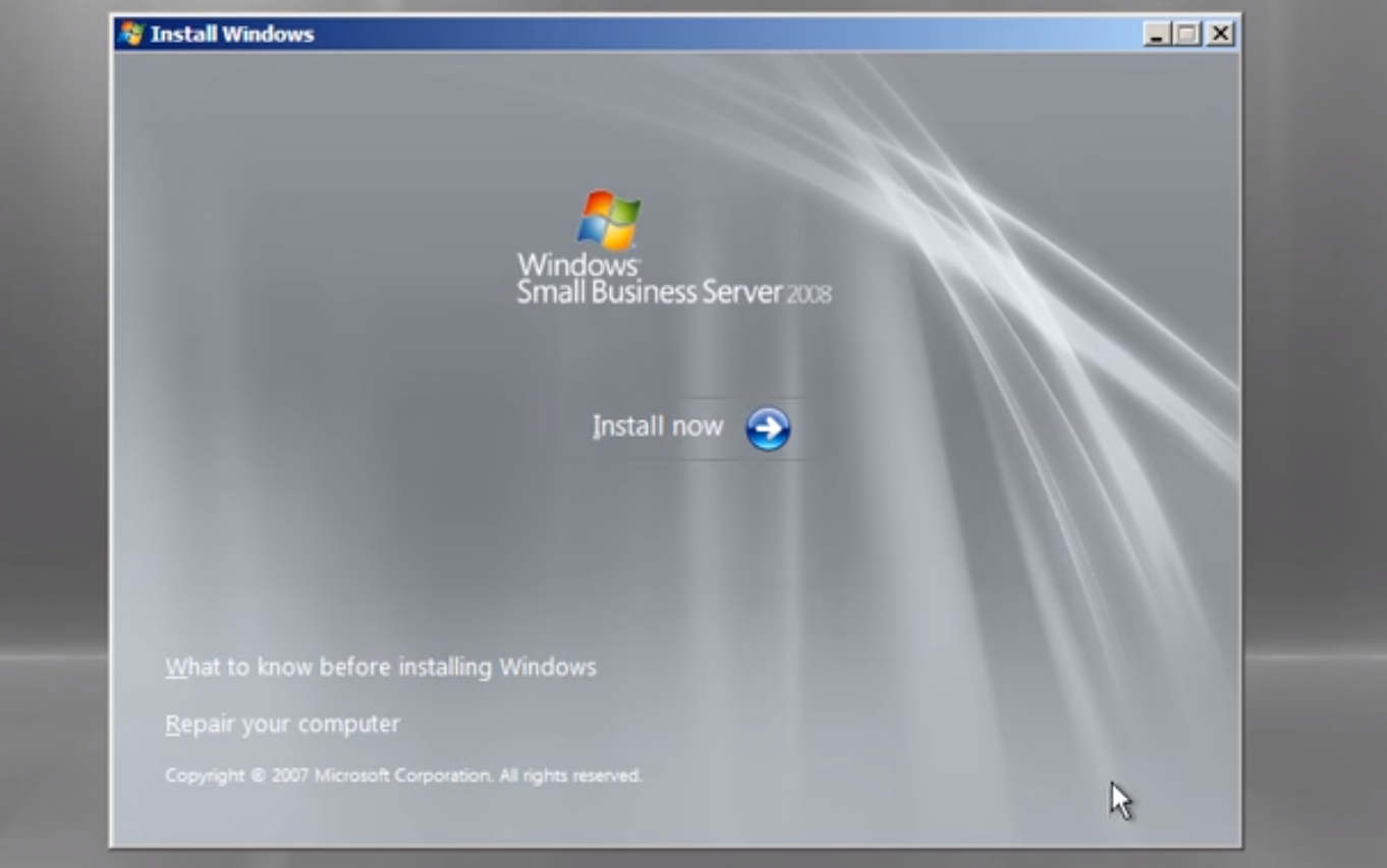 Windows Small Business Server 2011 Installation Guide
