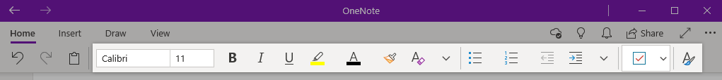 Formatting onenote