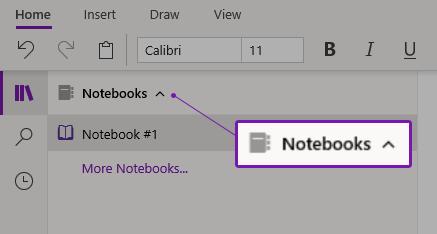 Notebooks in Onenote