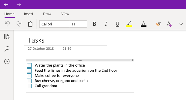 How to organize tasks in onenote