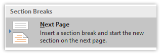 remove page break in word