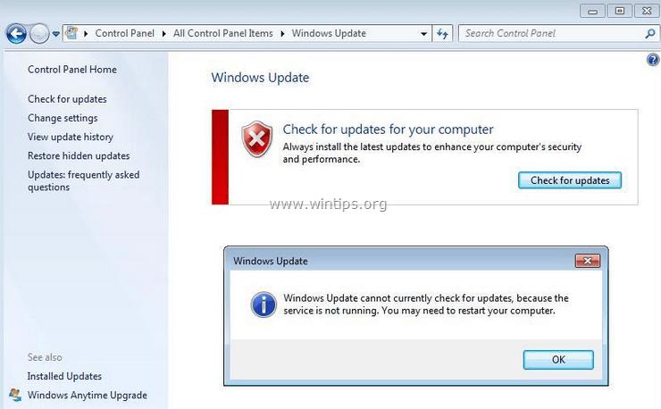 Windows Updates Keep Turning Off