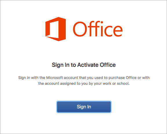 office for mac activate