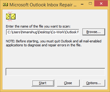 how to reapir your outlook files