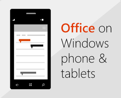 How to set up office on windows phone