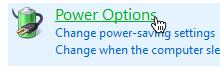 Power option icon on windows